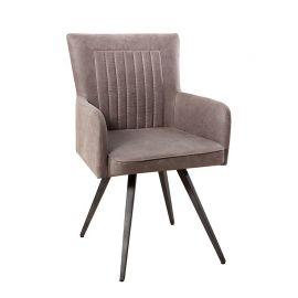 Set 2 scaune Roadster gri taupe antic