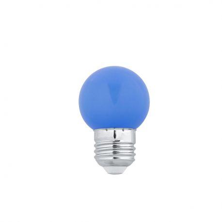 Bec LED E27 G45 BLUE 1W