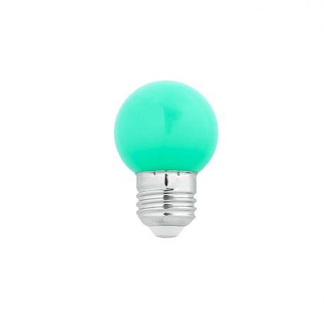 Bec LED E27 G45 verde 1W