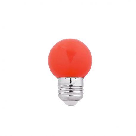 Becuri E27 - Bec LED E27 G45 rosu 1W