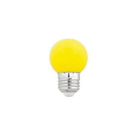 Bec LED E27 G45 galben 1W