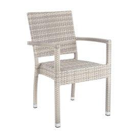 Set de 4 scaune cu brate ASTON gri deschis - Evambient BZ - Scaune