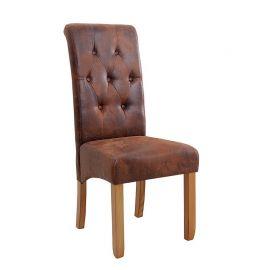 Set de 2 scaune Valentino whisky-maroniu