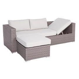 Set canapea cu masuta/taburet CARLYN