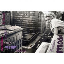 Tablou decorativ MARILYN ON THE ROOF 120x80 - Evambient FTP - Tablouri