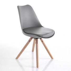 Seturi scaune, HoReCa - Set 2 scaune KIKI WOOD - GREY