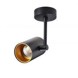 Plafoniere cu spoturi, Spoturi aplicate - Plafoniera cu spot TORI SL 1 negru/auriu