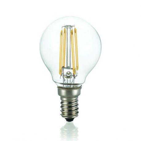 Becuri E14 - Bec LED E14 4W SFERA TRASPARENTE 4000K