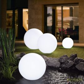 Lampa decorativa de exterior Globo alb 60
