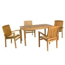 Mobilier terasa - Masa cu 4 scaune Evelia