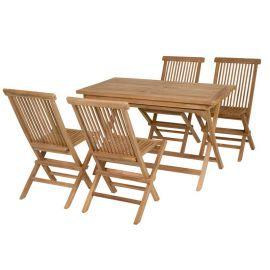 Mobilier terasa - Masa cu 4 scaune Evan