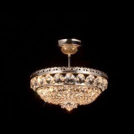 Plafoniere Cristal Bohemia - Plafoniera Cristal Bohemia diametru 35cm, nickel