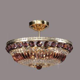 Plafoniere Cristal Bohemia - Lustra Cristal Bohemia diametru 45cm, light amethyst