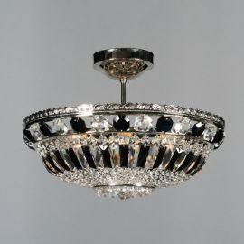 Plafoniere Cristal Bohemia - Lustra Cristal Bohemia diametru 45cm, nickel/ negru