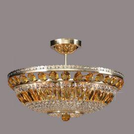 Plafoniere Cristal Bohemia - Lustra Cristal Bohemia diametru 50cm, light topaz