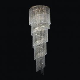 Lustre Cristal Bohemia - Lustra spirala XL Cristal Bohemia