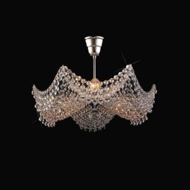 Plafoniere Cristal Bohemia - Lustra Cristal Bohemia diametru 42cm, nickel