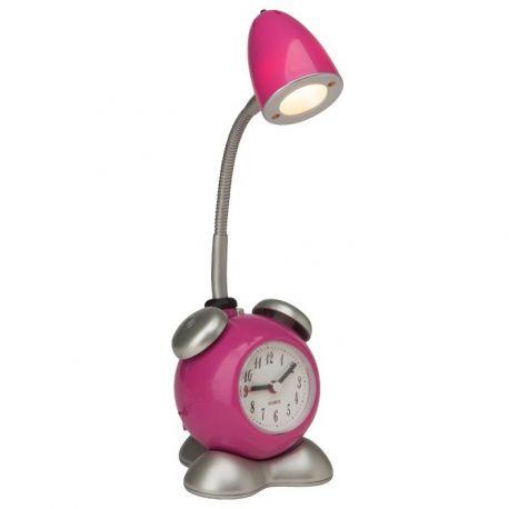 Iluminat pentru copii - Veioza LED cu ceas / Lampa camera copii Pharrell roz