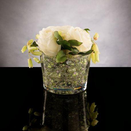 Aranjamente florale LUX - Aranjament floral ETERNITY GREEN PEARL ROSE