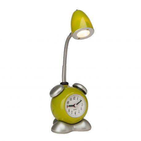 Iluminat pentru copii - Veioza LED cu ceas / Lampa camera copii Pharrell verde