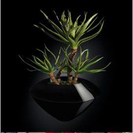 Aranjamente florale LUX - Aranjament floral CAIRO IN SHINY VASE, negru 150cm