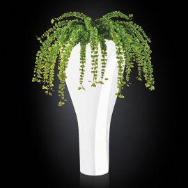 Aranjamente florale LUX - Aranjament floral TORONTO IN SHINY VASE, alb 160cm