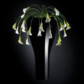 Aranjamente florale LUX - Aranjament floral LOS ANGELES IN SHINY VASE, negru 160cm