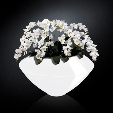 Aranjament Floral Venezia In Shiny Vase Alb Aranjamente Florale Lux