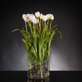 Aranjamente florale LUX - Aranjament floral SQUARE TULIP BABY PINK