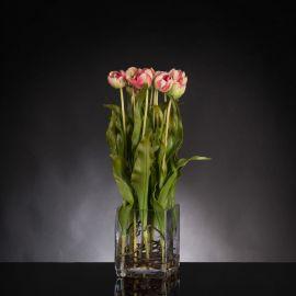 Aranjamente florale LUX - Aranjament floral SQUARE TULIP LIGHT ORCHID