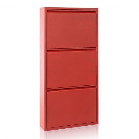 Garderobe - Dulap Pantofi cu 3 usi, ZAPATERO 15 rosu