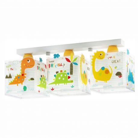 Iluminat pentru copii - Lustra aplicata camera copii Dinos