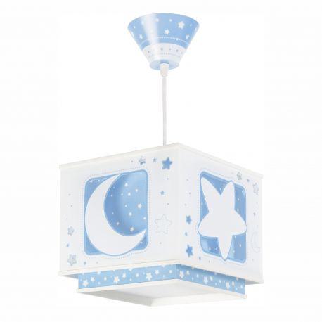 Articole pentru copii - Lustra camera copii Moon Light, albastru