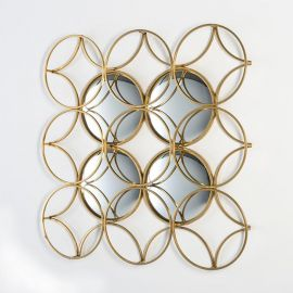 Decoratiuni perete - Decoratiune perete din metal si oglinda Dorado 90x90cm