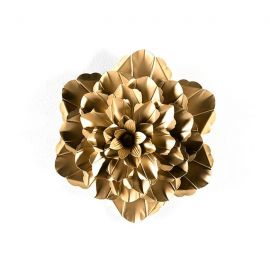 Decoratiuni perete - Decoratiune perete din metal auriu Flower 39cm