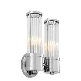 Aplice, corpuri de iluminat pentru pereti - Aplica LUX Claridges Dual nickel