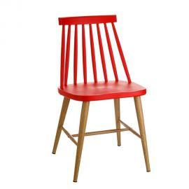 Set de 2 scaune stil clasic Ludmilla rosu