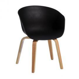 Seturi scaune, HoReCa - Set de 2 scaune design modern Acacia negru