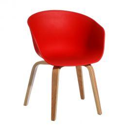 Seturi scaune, HoReCa - Set de 2 scaune design modern Acacia rosu