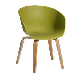 Seturi scaune, HoReCa - Set de 2 scaune design modern Acacia verde
