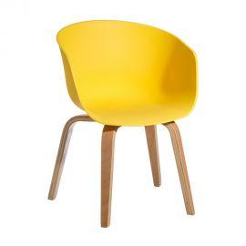 Seturi scaune, HoReCa - Set de 2 scaune design modern Acacia galben