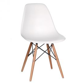 Seturi scaune, HoReCa - Set de 2 scaune design vintage Nordica alb