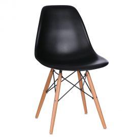 Seturi scaune, HoReCa - Set de 2 scaune design vintage Nordica negru
