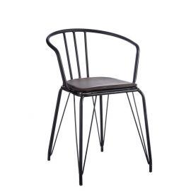 Seturi scaune, HoReCa - Set de 2 scaune cu brate Rolland gri