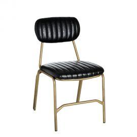 Seturi scaune, HoReCa - Set de 2 scaune design vintage Alyce black-gold
