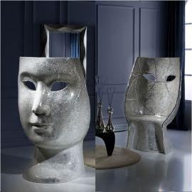 Scaune - Scaun cu spatar in forma de masca MASCARA