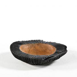 Parfumuri de camera, Idei cadouri, Obiecte decorative - Vas decorativ din lemn Bowl 30, natur/ negru