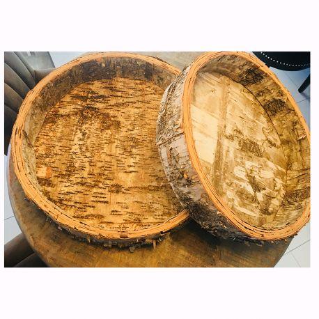 Parfumuri de camera, Idei cadouri, Obiecte decorative - Set 2 vase decorative din lemn Bowl birch round