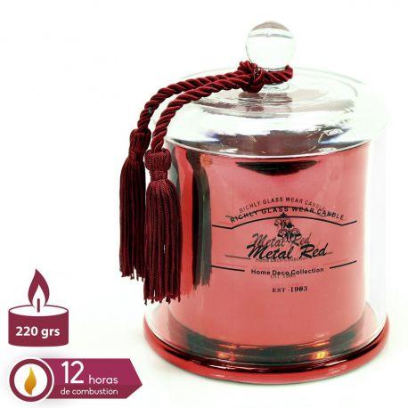 Parfumuri de camera, Idei cadouri, Obiecte decorative - Suport lumanare din sticla QUESERA, rosu