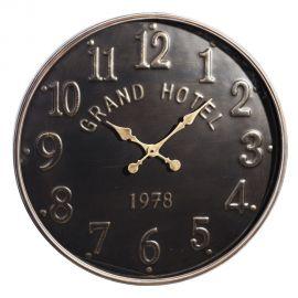 Decoratiuni perete - Ceas de perete Grand Hotel 72cm, negru/ auriu